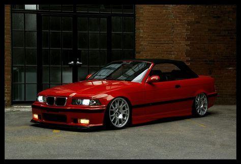Bmw E36 Hellrot Red Cabrio With Images Bmw E36 Bmw Bmw Red