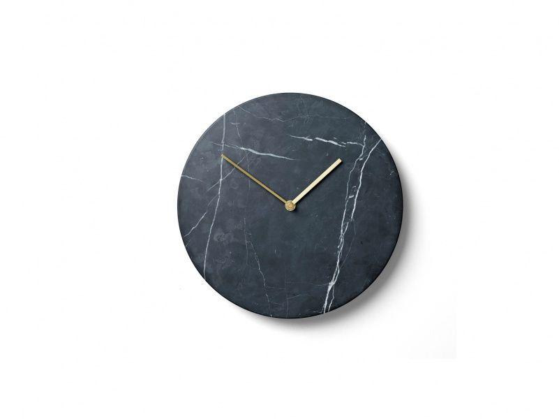 MARBLE Wall Clock, Black