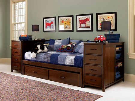 Boys Bed with Trundle | Kendall Daybed With Trundle Bedroom Set by ...