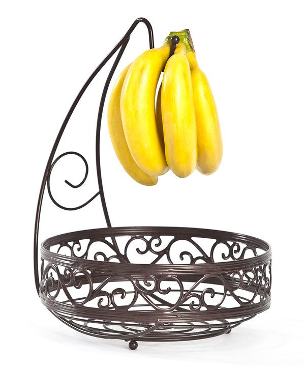 Take a look at this Black Scroll Banana Hook Fruit Basket on zulily ...