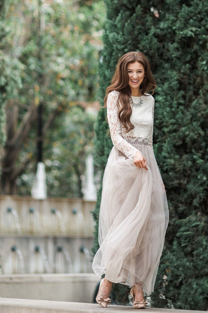 Sophie taupe tulle maxi skirt prom pinterest tulle skirts