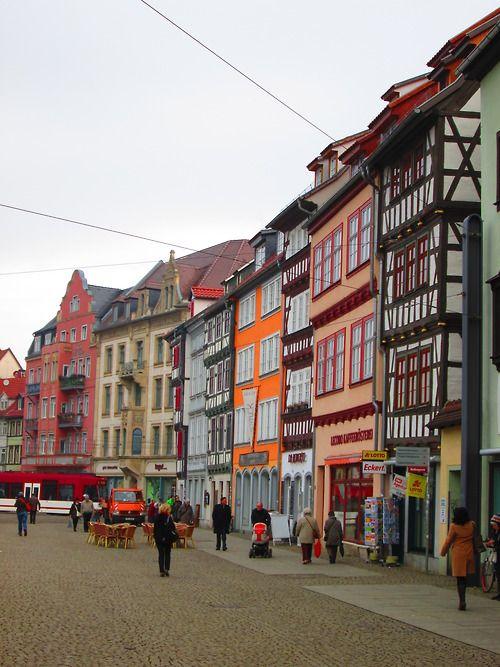 Domplatz, Erfurt. Thüringen, Deutschland.