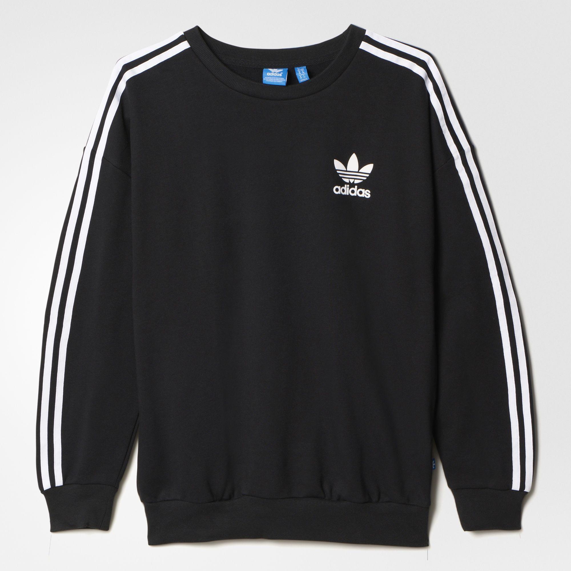 Adidas 3 Streifen Sweatshirt Adidas Sweats Adidas Women Striped Sweatshirts