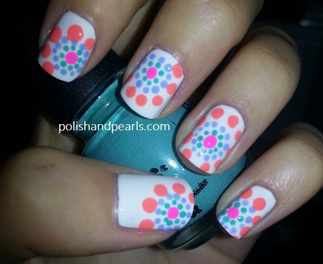 polka dot nail designs | ... tutorial on how to achieve this easy nail - Polka Dot Nail Designs Tutorial On How To Achieve This Easy