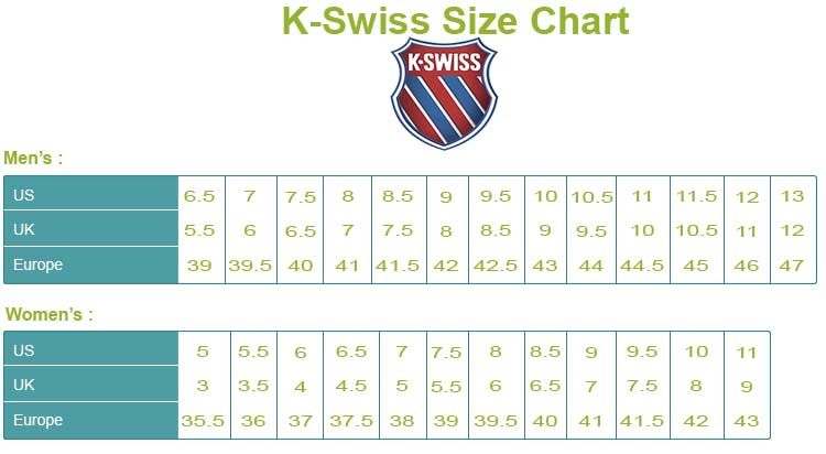 k swiss shoes europe sizes conversion