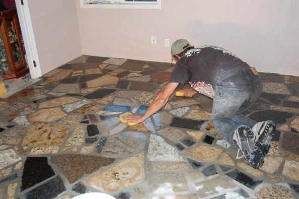 Diy Bedroom Flooring Using Granite Scraps What A Wonderful