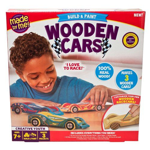 cool wooden car craft kit for boys
