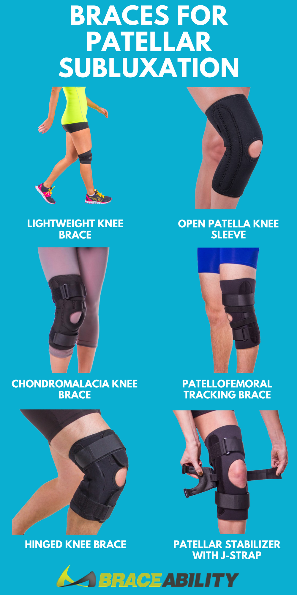 e6c8edacee Does your kneecap (patella) feel like it's moving out of position? You might  be experiencing a patellar subluxation! These knee braces can help treat ...