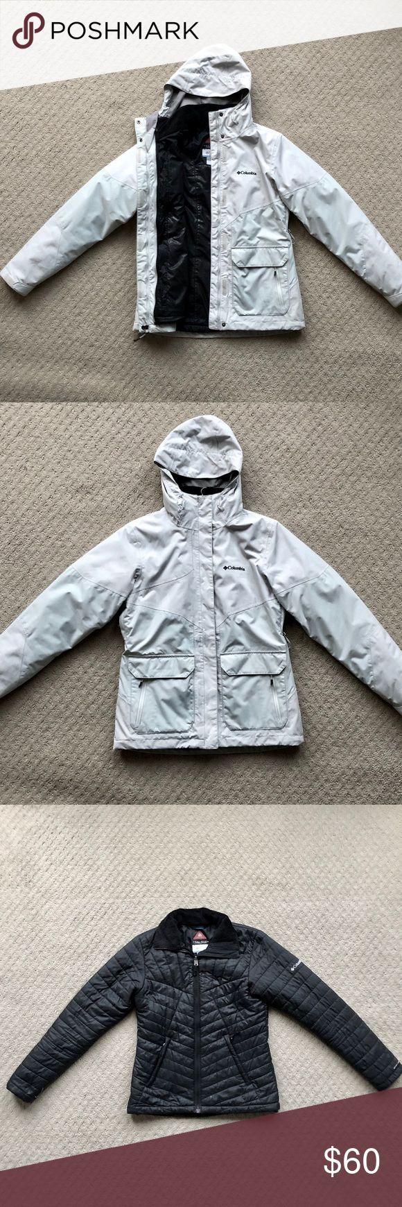 #3in1 #cold Rainy Day Outfit #Columbia #Heat #Interchange #Jacket #Omni #sale #Tech #white Columbia 3-in-1 Interchange Jacket Omni Heat Tech For sale is a white Columbia O...        コロンビア3-in-1インターチェンジジャケットOmni Heat Tech販売中の秋、冬、春に最適な白いコロンビアオムニシールドインターチェンジ3-in-1ジャケットです。雨の日には、アウターシェルをレインジャケットとして着用してください。肌寒い秋の日には、フグを着用します。そして、寒くて雪の多い天候では、ジッパーを2つ合わせて着用し... #rainydayoutfitforwork