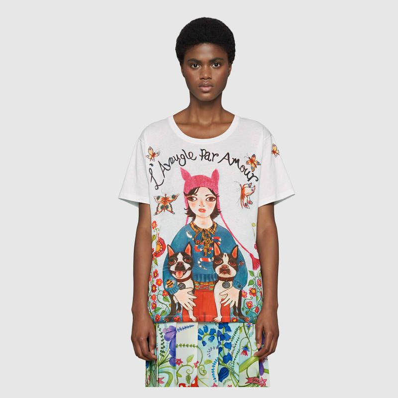 8bc3734e445 Gucci Unskilled Worker T-shirt Detail 3