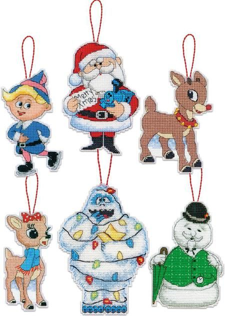 dimensions rudolph christmas ornaments plastic canvas cross stitch kit this