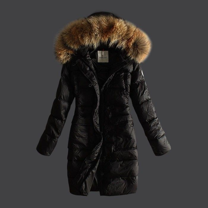 2015 New! Moncler Down Coat Women Hooded Windproof Black Jackets ...