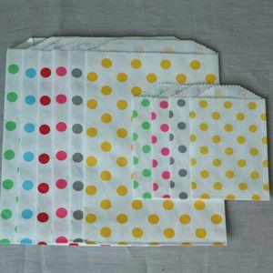 Image of Sachets à pois  - mini ou moyens - 5 couleurs - par 4 ou 6