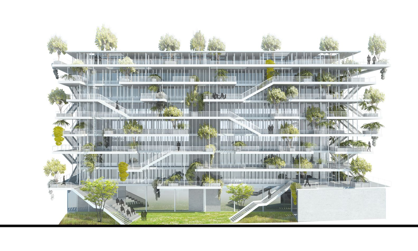 office building design concepts. Gallery - NL*A Reveals Plans For Open-Concept Green Office Building In France Design Concepts O