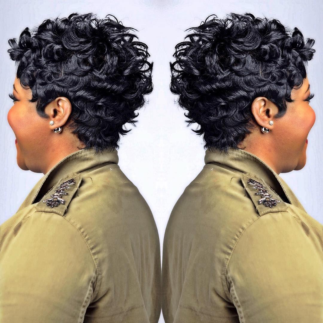 560 Likes 21 Comments Divastylessalon On Instagram Tbt Divastylessalon Shorthair Waves Dallashai Short Sassy Hair Short Hair Styles Pixie Hair Styles