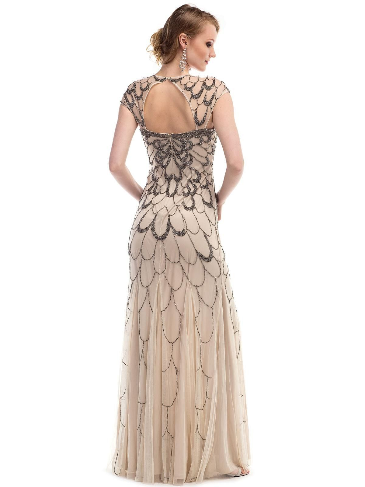GLOW G263 Beaded Flapper or Great Gatsby Style Prom Dress Evening ...