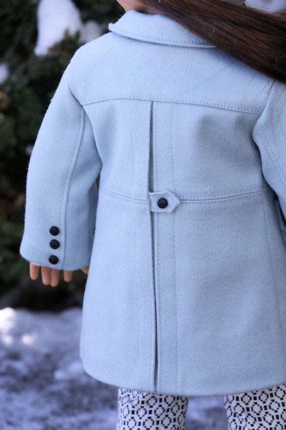 18 inch Doll Clothes Pattern. Noodle Clothing Wind Chill Coat PDF Pattern fits 18 inch dolls like American Girl®