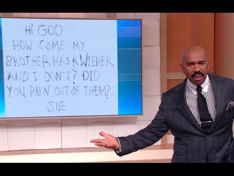 Steve Harvey closes the show by sharing some hilarious letters