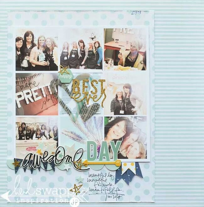 jmpgirl designs using Heidi Swapp #layout #friends #fun #girls #grid #squares