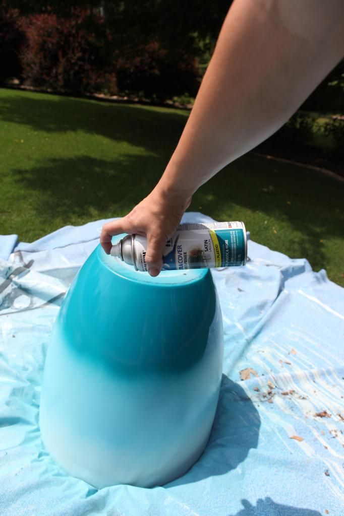 Pot Of Gold Err Turquoise Bower Power Paint Garden Pots Diy Flower Pots Painted Flower Pots