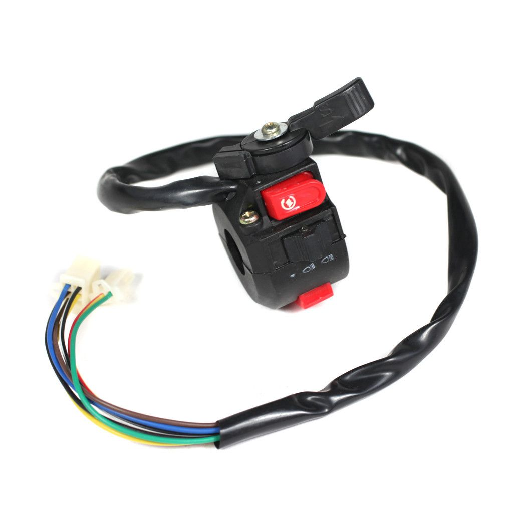 Chinese Atv Handlebar Starter Switch Version 4 With Choke Lever 110cc Wiring Vmc Parts
