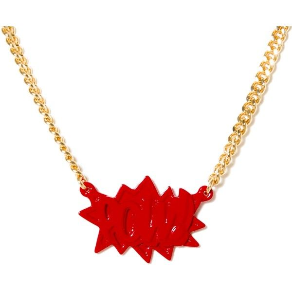 Ambush Pow! Chain (Red / Gold) - RSVP Gallery ❤ liked on Polyvore