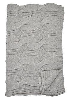 Cable-Knit Cashmere Throw