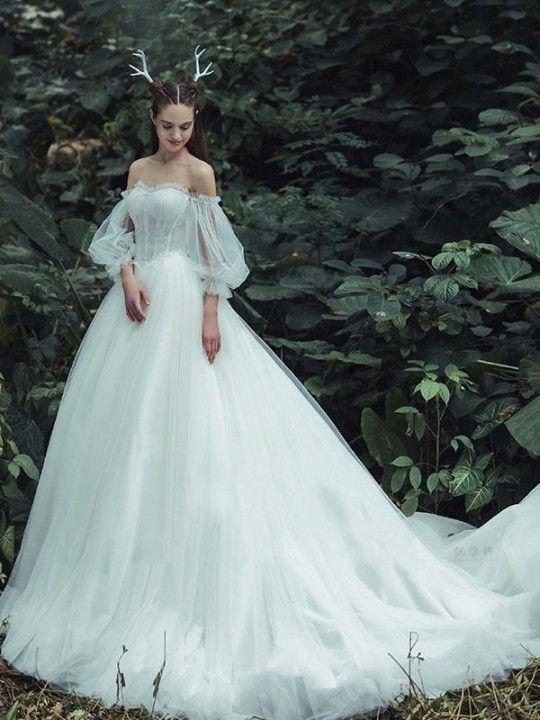 Cheap Engrossing Ivory Wedding Dress, Wedding Dress Vintage, Wedding Dress Cheap
