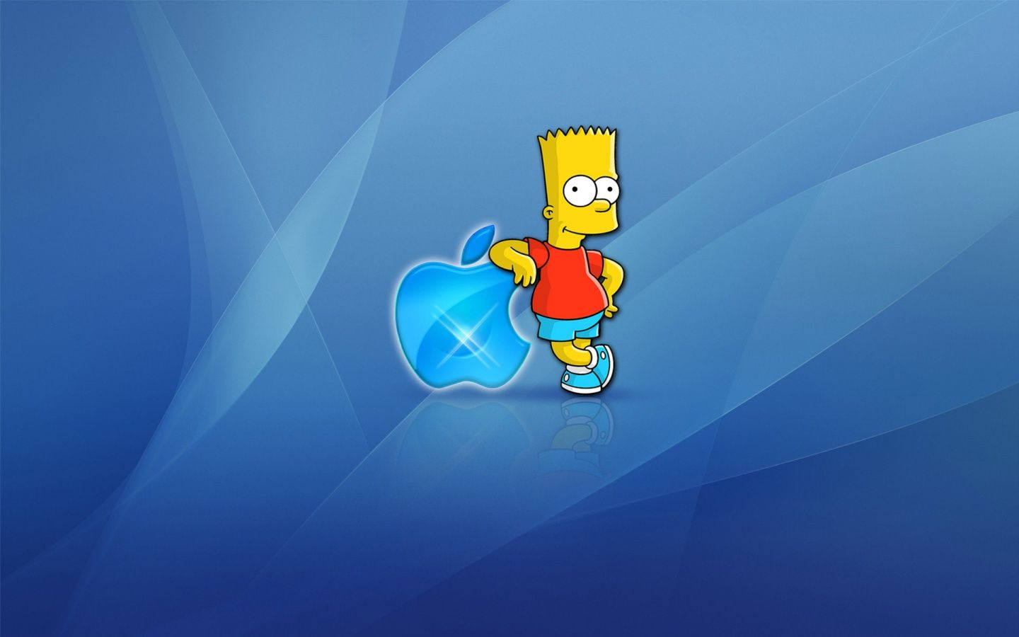 Bart Simpson Apple Logo Cartoon Wallpaper Funny Cartoon Images Hd Cool Wallpapers