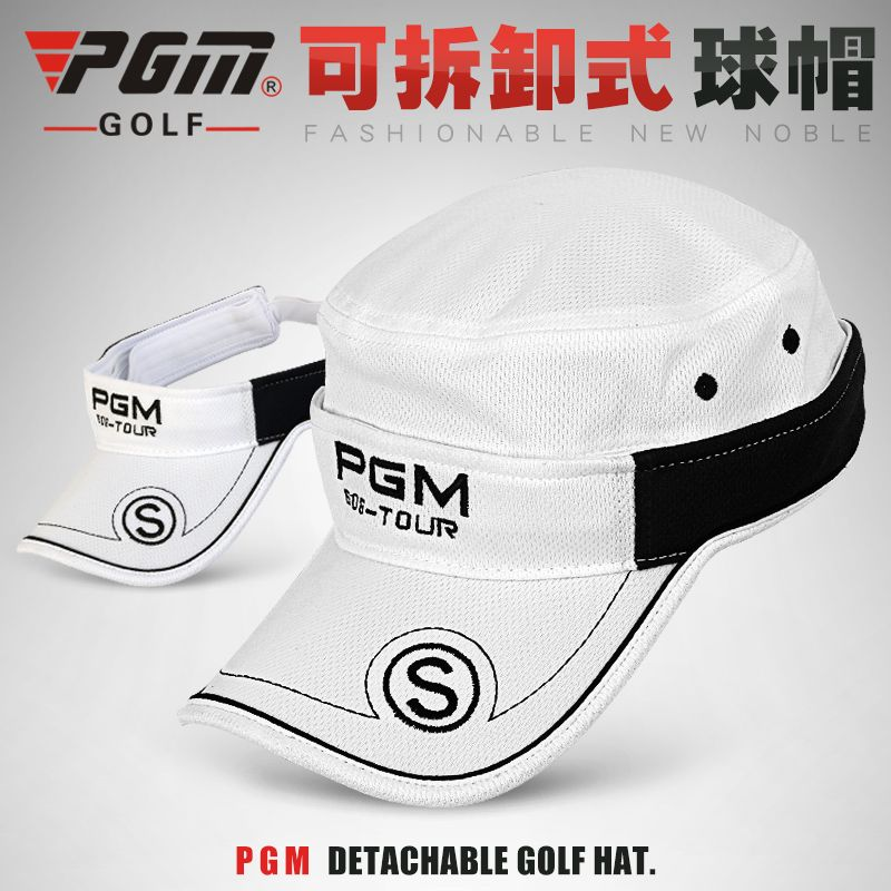 fdc0611f271 The golf ball cap and visor hat   Hat detachable dual-purpose ball cap Free