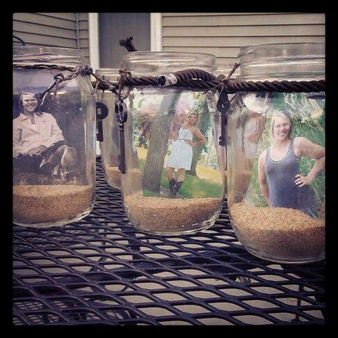 Mason Jars For My Graduation Party Decorations I Put These
