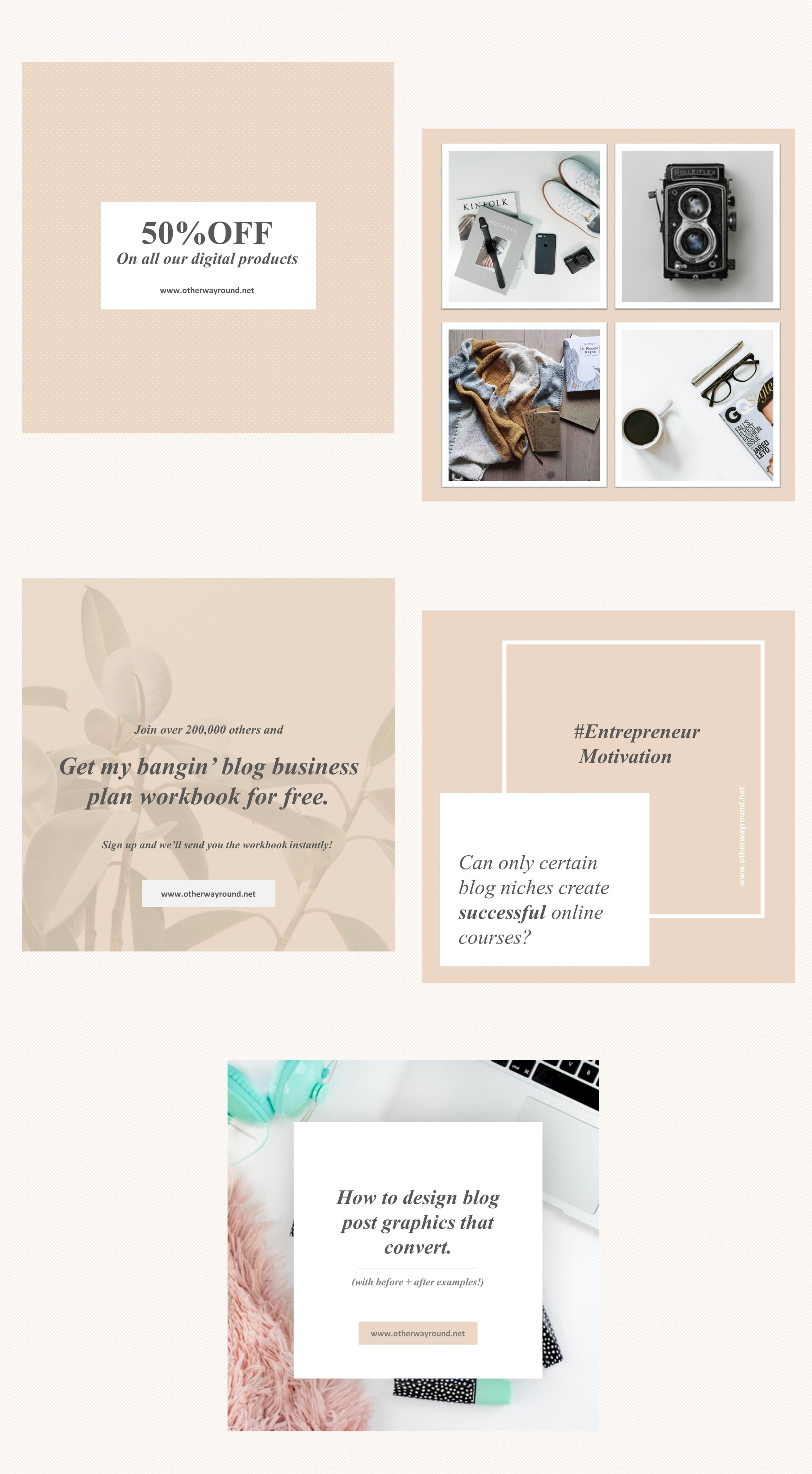 Stylish Instagram Feed Templates A Collection Of Free Instagram Templates To Take Your Content To The Nex Instagram Template Instagram Feed Blog Post Graphics