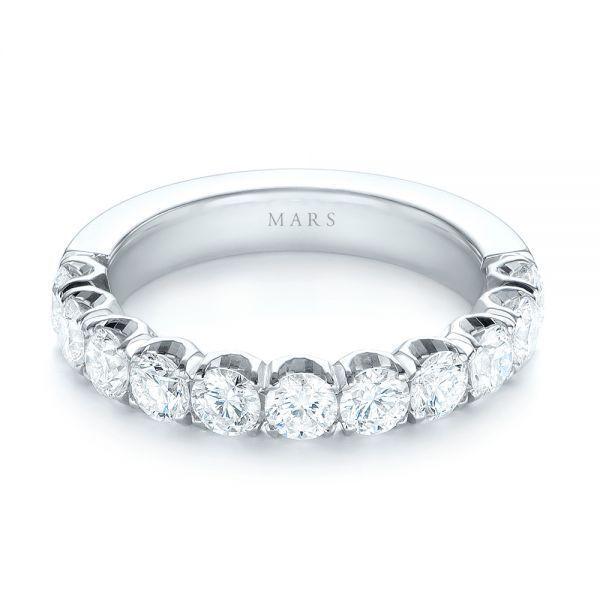 Brilliant Facet Pavé Diamond Wedding Band Mars Collection Joseph