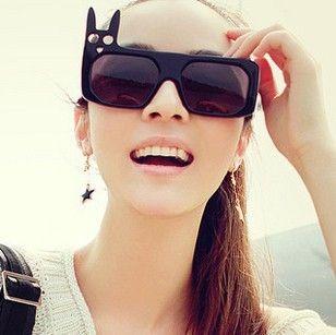 Retro owl plate sunglasses men and women Europe style sunglasses rabbit personality sunglasses $15.61