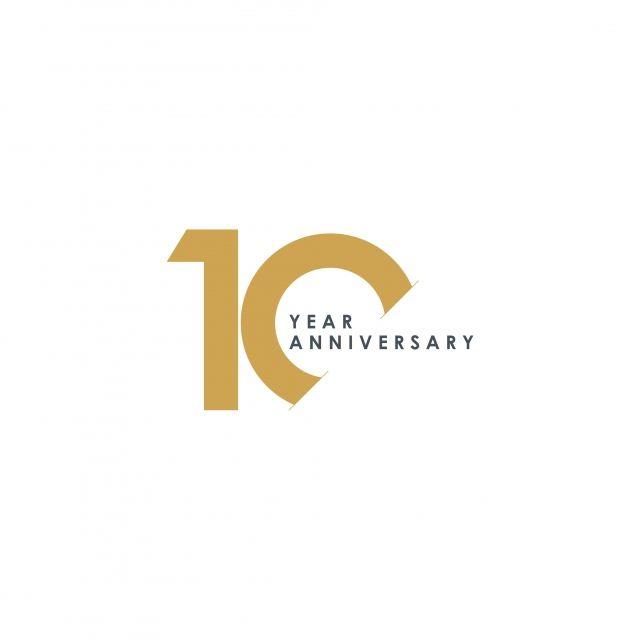 10周年記念ベクターテンプレートデザインイラスト 無料 Png そして ベクトル 10 Year Anniversary Anniversary Logo Logo Number