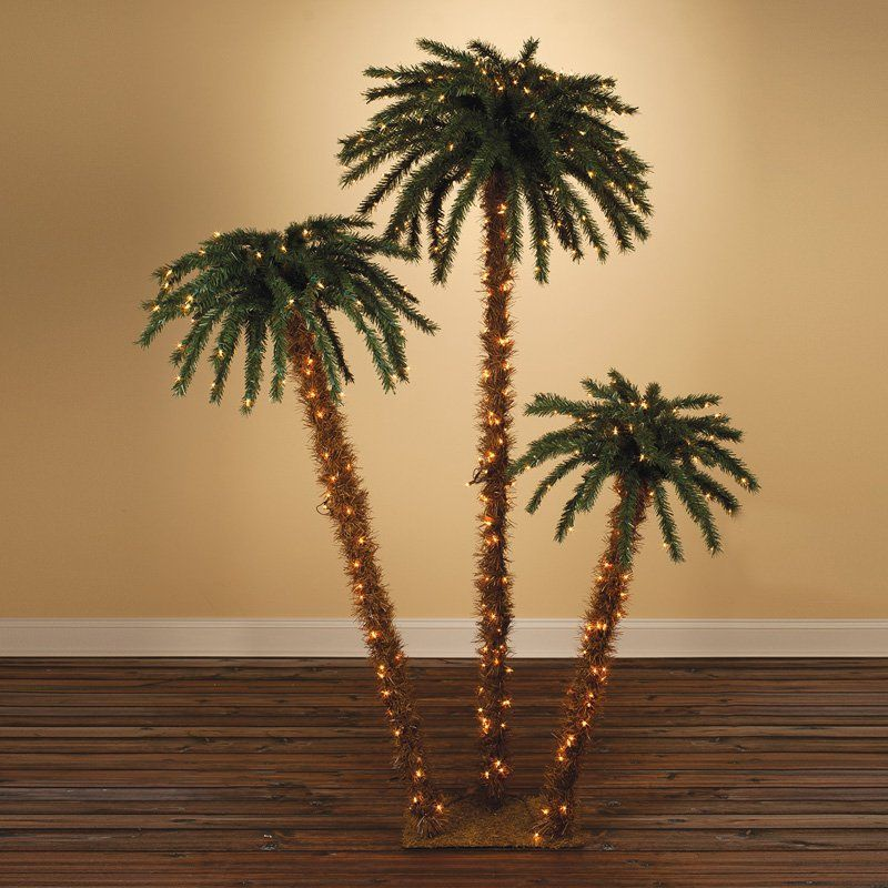 Pre-lit Palm Tree - Set of 3 by Sterling Tree Company - 5208-3556C
