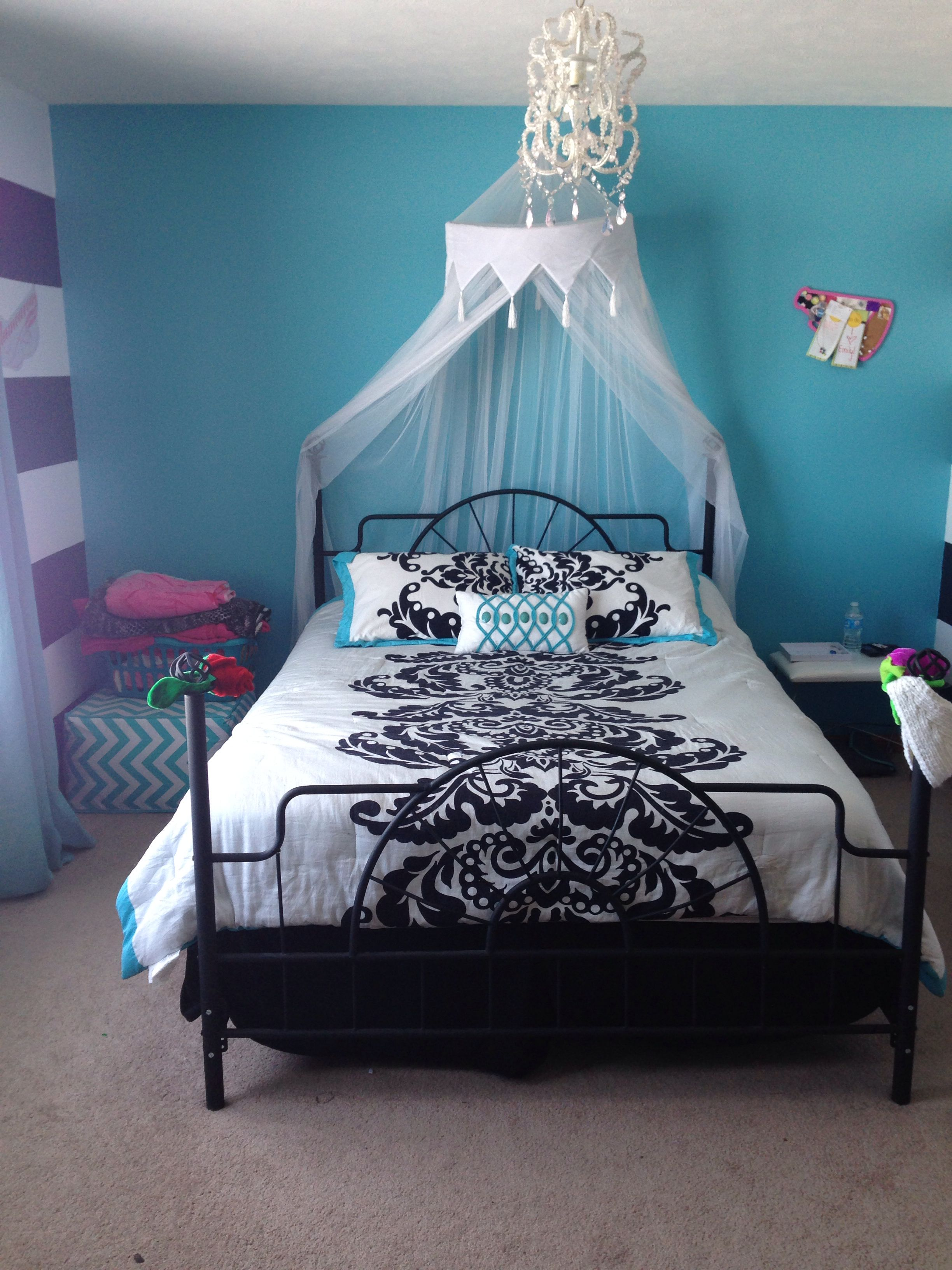 Teen girls room just got this for my soon to be 13 year for 6 year girl bedroom ideas