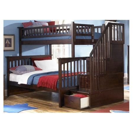 Columbia Staircase Bunk Bed Twin Over Twin In Multiple Colors And