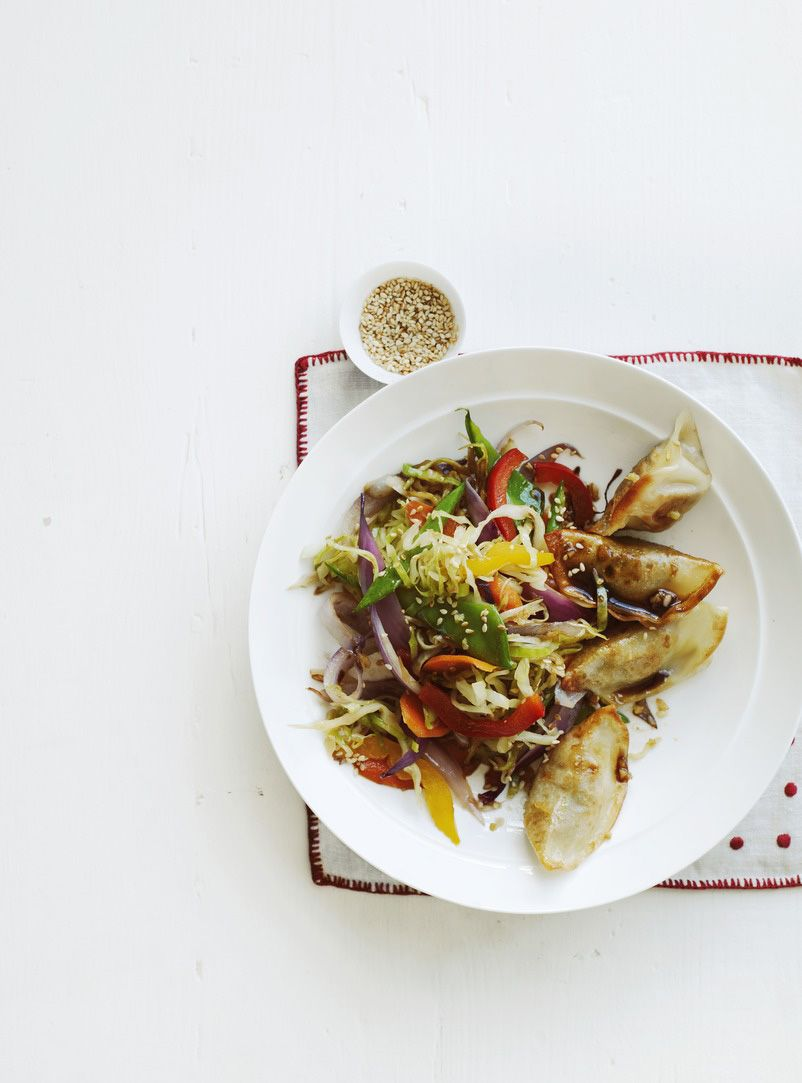 Photo of Potsticker and Vegetable Stir-Fry