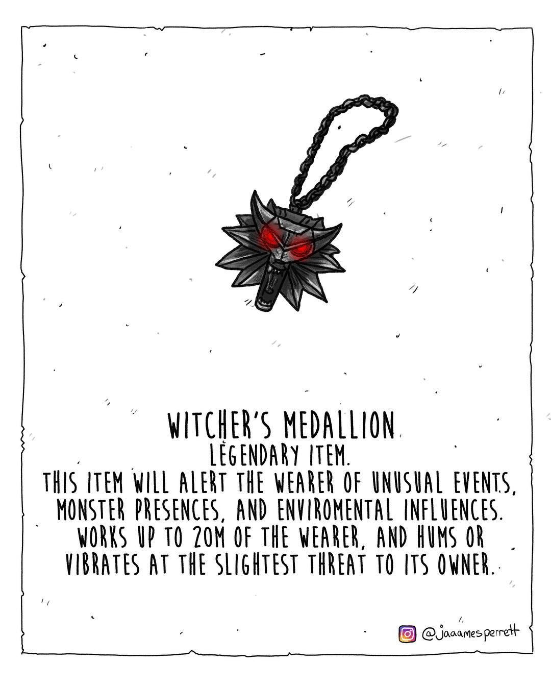 Jp On Instagram Witcher S Medallion Stat Idea By Choccolattepro On Reddit Dun Dungeons And Dragons Homebrew Dnd Dragons D D Dungeons And Dragons