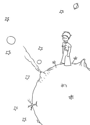 Little Prince Manuscripts Coloring Page From Little Prince