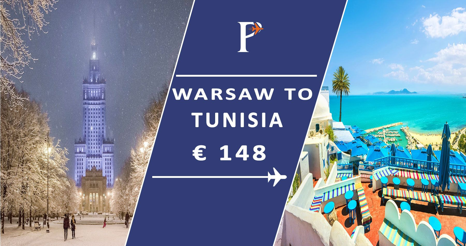 Book Flights from Warsaw, Poland to Tunisia Round