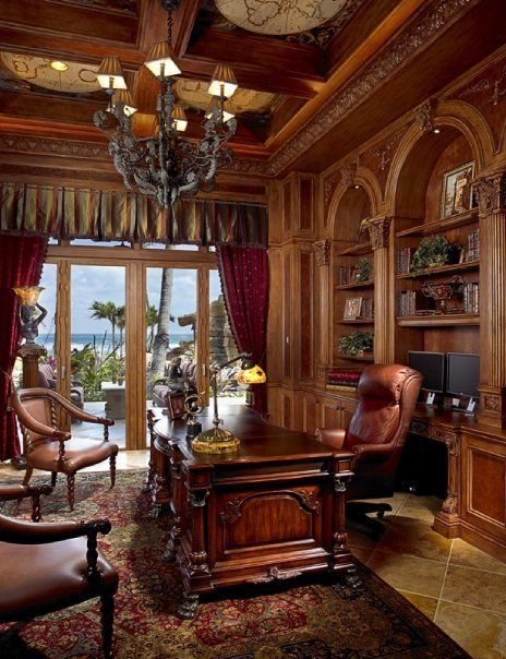 Luxury Home Library Design: Luxury Homes, Home Office Design, Home
