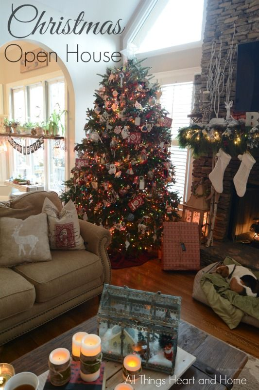 Home For The Holidays Christmas House Tour All Things Heart And