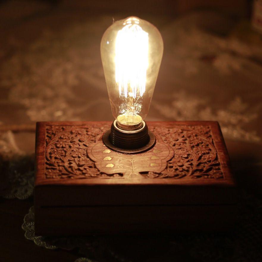 Ahşap Gece Lambası Mücevher Kutusu - Türkiye nin Sukulent Marketi Ahşap Gece Lambası Mücevher Kutusu -  -