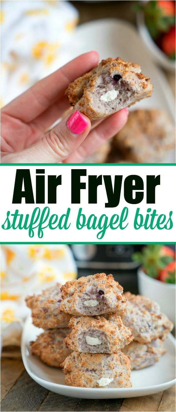 Air Fryer bagels come out crispy with a soft chewy center