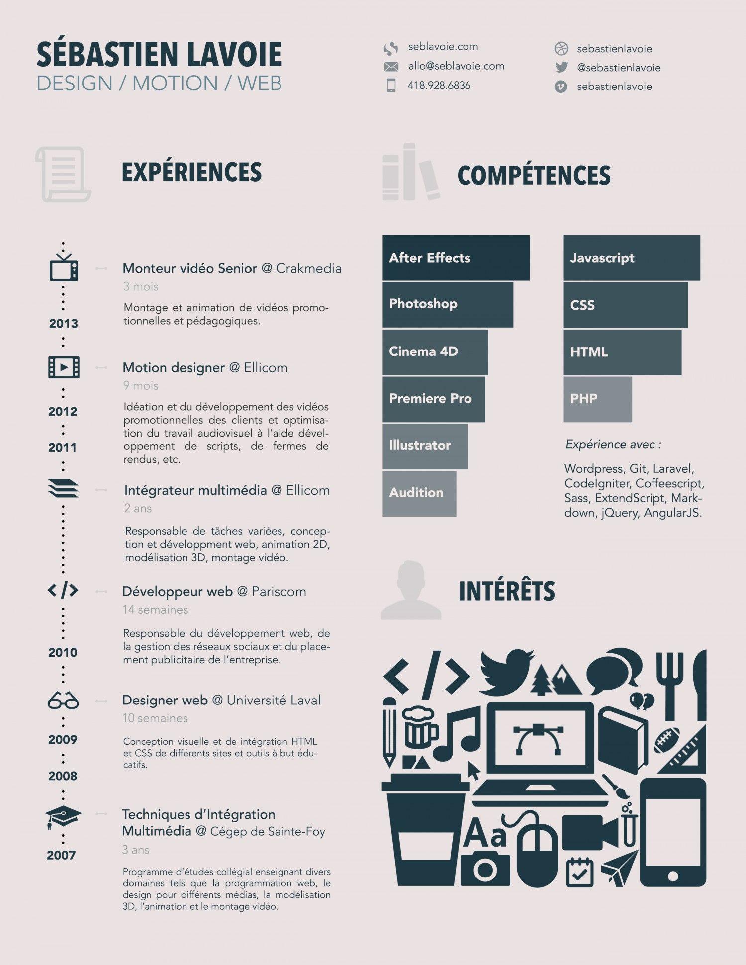 curriculum vitae infographic visual ly