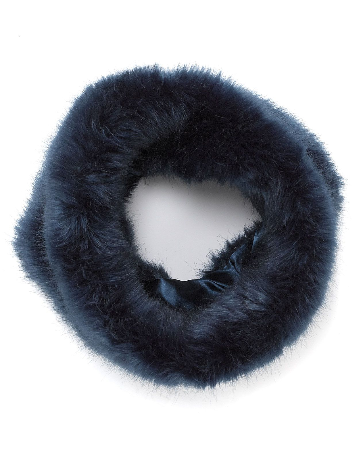 753ee47a81e Navy Faux Fur Snood Was £24 Now £12