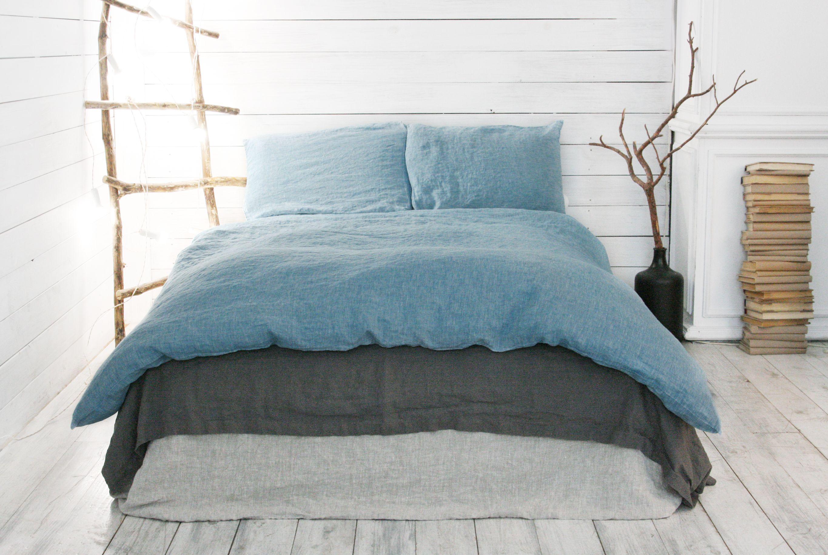 Linen Duvet Cover Set. Duvet Cover + 2 Pillowcases. Set 3