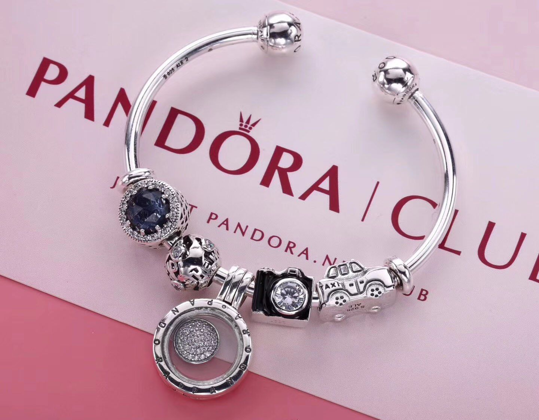 5e3d1e690 Pandora Open Bangle Bracelet With 5 Pcs Charms Locket. SaveEnlarge